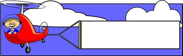 cedule za letadlem