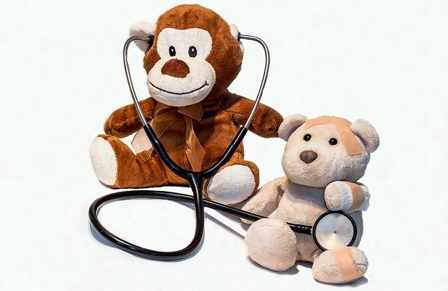 medvídci a stetoskop
